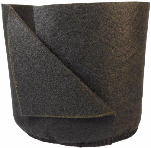 Smart Pots Suave y Confortable repiqueuse mecánico contenedor de Plantas, 2-Gallon, Negro