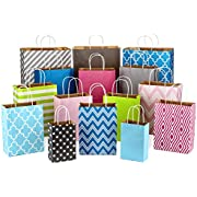 """Hallmark Paper Gift Bag Assortment, Variety Pack of 15 for Birthdays, Baby Showers, Weddings, Easter, All Occasion (8"""" Small, 10"""" Medium, 12"""" Large, 14"""" Extra Large; Pink, Blue, Green, Grey)"""