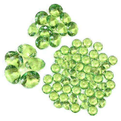 Koyal Wholesale Centerpiece Vase Filler Acrylic Diamonds, Lime Green