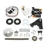 Kit de conversión para bicicleta eléctrica de 24 V 250 W, motor de escobilla, 24 V 250 W, kit de conversión para bicicleta eléctrica, kit de conversión de bicicleta eléctrica Kit de rueda trasera