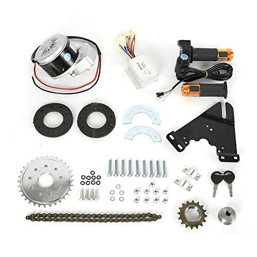HaroldDol Elektro Ebike Conversion Twist Kit, Elektro-Fahrrad Umbausatz Hinterrad Heckmotor, 250W 24V Bürstenmotor mit Freilauf