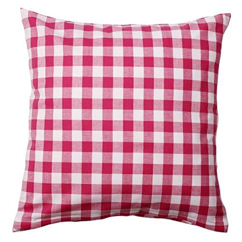 Hans-Textil-Shop Kissenbezug 40x40 cm Vichy Karo 15x15 mm, Pink Baumwolle (Kariert, Karomuster, Deko, Sofa, Landhaus)