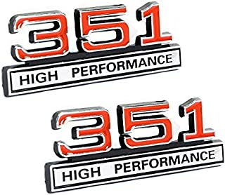 351 5.8 Liter Engine High Performance Emblems in Chrome & Red - 4