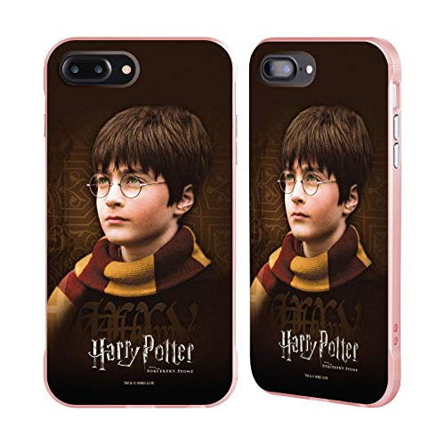 Officiële Harry Potter Sjaal Steen tovenaar II Rose Fender Case Compatibel voor Apple iPhone 7 Plus/iPhone 8 Plus