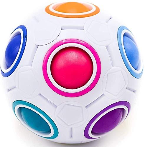 CUBIDI® – Regenbogenball – Geschicklichkeitsspiel für Kinder und Erwachsene – tolles Mitgebsel für Kindergeburtstag Gastgeschenk Spielzeug – auch als Stressball oder Knobelspiel für Erwachsene