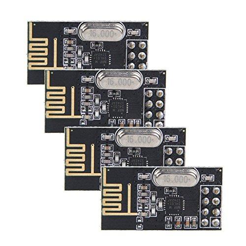 NRF24L01 + antenne module emetteur-recepteur sans fil - SODIAL(R)4pcs nRF24L01 + 2.4GHz Antenne module emetteur-recepteur sans fil pour Arduino Nouveau