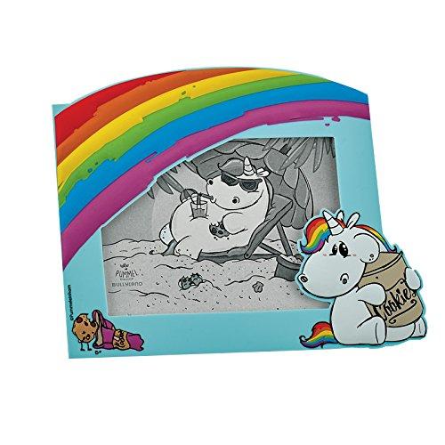 Bullyland 44402 Marco de Fotos de Unicornio gordito con Tarro de Galletas, Multicolor, 15 x 10 x 10 cm