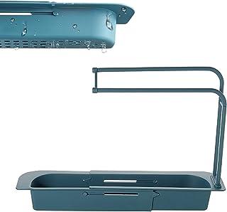 solawill Support d'évier télescopique,Support de Panier de vidange de Stockage Extensible,Support de Savon éponge égouttoi...