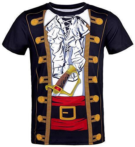 COSAVOROCK Disfraz de Pirata para Hombre Camiseta (M, Duke)