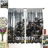DRAGON VINES Ca-ll of Duty WW2 - Cortinas opacas para dormitorio,...