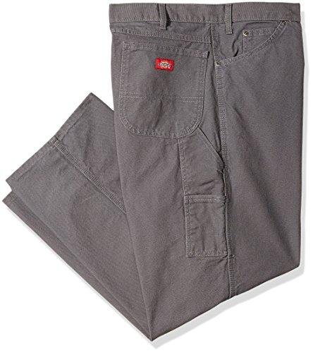 Dickies Herren Ente, Relaxed Fit, gerades Bein, Zimmermanns-Jeans, groß - Grau - 46W / 30L