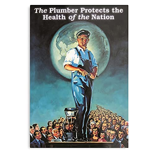 Nation Vintage Protects Plumber The Plumbing of Health Art Retro American - The Best and Newest Poster for Wall Art Home Decor Room I - Customize