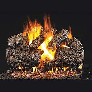 RealFyre Charred Forest Oak Logs 24-in - Logs and G4 Burner Kit, Natural Gas