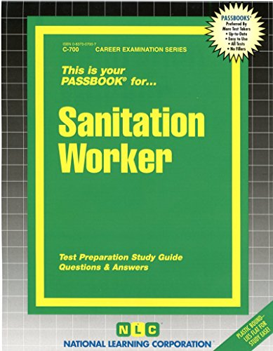 Download Sanitation Worker (Passbooks for Career Opportunities) 0837307007