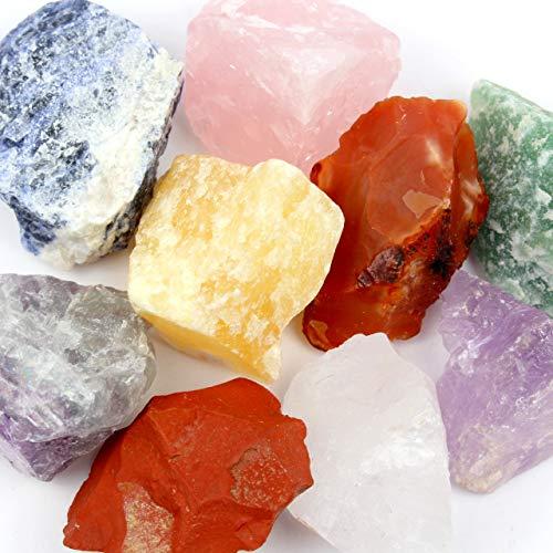 Aqua Lapis Wassersteine Große Mischung 300 gr. 9 Edelsteine Grundpreis 1 kg = 16,5 €