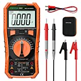 Digital Multimeter, Crenova multi testers, TRMS Volt Meter 6000 Counts, Ohmmeter, Ammeter with probe tester, Temperature Testers for Home, Automotive, motorcycle battery, Lab Use with hard case