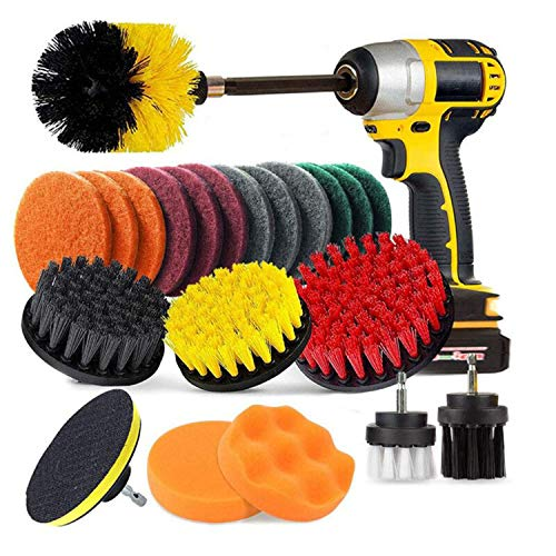 Taylor & Brown 22 Piece Drill Brush Cleaning Tool Attachment Kit for Scrubbing Cleaning Tile, Grout, Shower, Bathtub, and All Other General Purpose Scrubbing