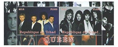 Musica Rock Bank regina serie di due francobolli minifoglio da 2014 / Repubblica Chad/MNH