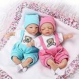 UYZ Super Mini bébé poupée Jumeaux Nouveau-né garçon Fille endormie 20 cm Coton Corps Silicone Reborn bébé poupées Jumeaux Jouet à Collectionner