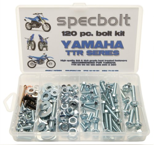 120pc Specbolt Yamaha TTR Bolt Kit for Maintenance Restoration OEM Spec Fasteners TTR50 TTR80 TTR90 TTR110 TTR125 TTR225 TTR250 TTR600 50 80 90 110 125 225 250 600 XT PW