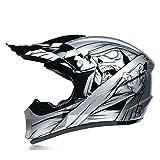 Conjunto De Casco De Motocross, Casco De Motocicleta Profesional con Gafas/Máscara/Guantes, Casco Quad Integral para Hombres Y Mujeres,L