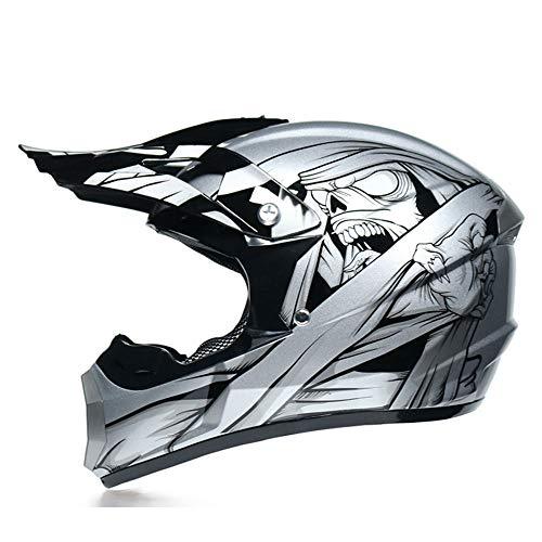 Casco Motocross Niño 5~12 Años ECE Omologado Casco Moto Integral Unisex para Moto Cross Destenso...