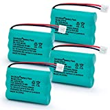 BAOBIAN 27910 Rechargeable Cordless Phone Battery Compatible with for V-Tech 89-1323-00-00 Vtech 27910 I6725 Motorola SD-7501 RadioShack 23-959(4 Pack)