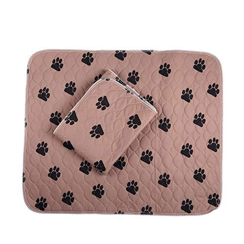 PREMIUM CARE 2 Pack Washable and Reusable Pet Training Pad Dog and Puppy Pads for Housebreaking, Travel, Incontinence Underpads