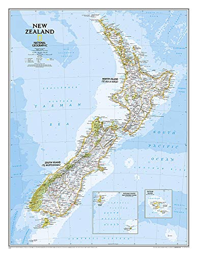 New Zealand, Laminated (National Geographic Reference Map)