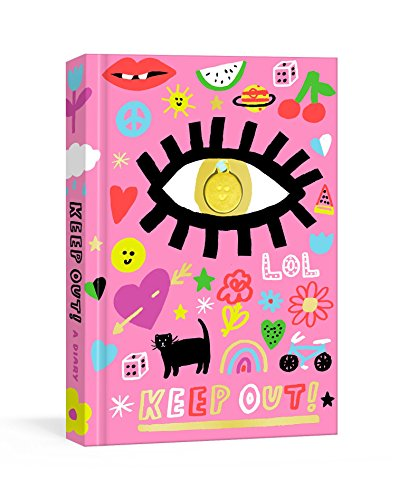 Keep Out!: A Nostalgic '90s Diary with Smiley Face Charm and Stickers (Journals)