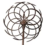 Spiro Wind Spinner Crackle Ball Globe Light - colour changing (Solar Powered)