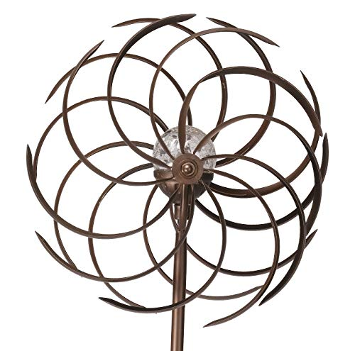 Spiro Wind Spinner Crackle Ball Globe Light - colour changing (Solar Powered)