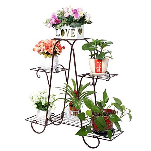 Oeasy - Espositore per piante, in metallo, stile europeo, multistrato, in ferro, per esterni e interni, per giardino, balcone, 72 x 74 x 21 cm