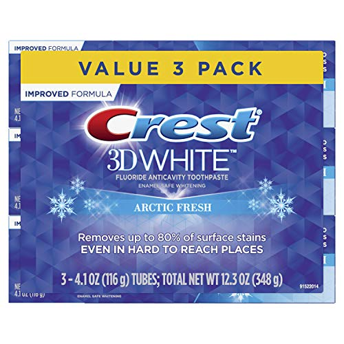 Price comparison product image Crest 3D White Whitening Arctic Fresh Toothpaste,  4.1 oz,  3 Count
