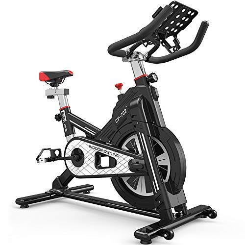 SFSGH Professionelles Indoor-Radfahren mit Smartphone-App-Steuerung, 12-kg-Schwungrad, Armstütze, Impulsgurt-kompatibel, Speedbike-Sportlenker, Ergometer, eBook