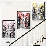 Pintura abstracta de paisaje de la calle de Londres sobre lienzo, carteles e impresiones, imágenes artísticas de pared románticas para la decoración del hogar de la sala de estar