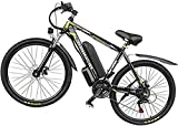 Bicicleta de carretera de la ciudad de cercanías, E-Bici 350W Motor, Power Assist, ruedas de 26' , 48V extraíble de iones de litio, frenos de doble disco - bicicleta eléctrica de 27 velocidades de des