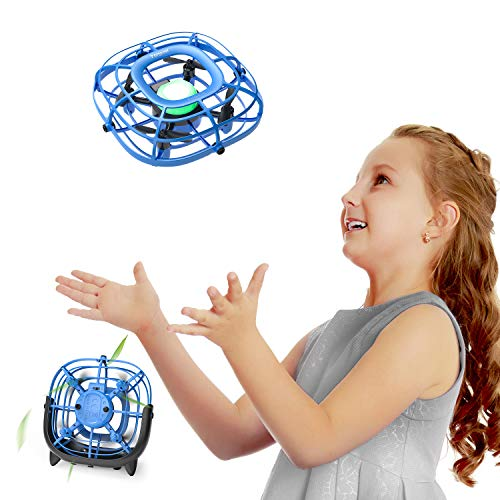 Tomzon Mini Drone UFO Ventilatore USB Quadricottero Elicottero a Induzione a Infrarossi Aereo Ricaricabile con Luce LED Telecomando Mantenere l'Altitudine Allarme Batteria Scarica per Bambini