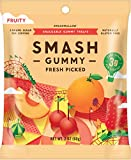 SMASHGUMMY Fresh Picked Fruity Gummies by SMASHMALLOW | Low Sugar | 60 Calories | No Sugar Alcohols, Carrageenan, IMO's, Stevia | Non-GMO | Gluten Free | 2.1 Ounces per Pack (Pack of 8)