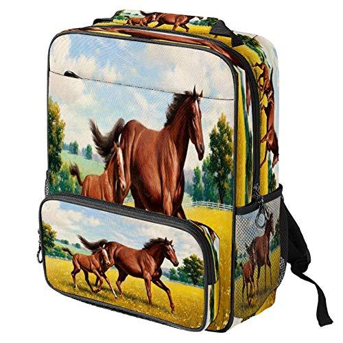 Mochila escolar casual con estampado de ranas, mochila multifuncional, Pattern#8 (Multicolor) - backpacks013