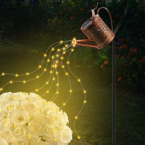 Yihaifu Star Shower Garden Art Light - Lámpara solar para jardín, regadera con luces, IP65, impermeable, 36 luces LED, luz blanca cálida, lámparas de jardín, 24 x 14,5 x 9,5 cm
