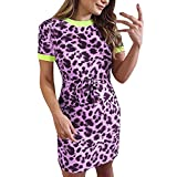 Vestido estampado leopardo rosa