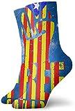 tyui7 Novedad Calcetines gratuitos de Cataluña Medias divertidas y coloridas Viajes deportivos Medias para hombres Mujeres