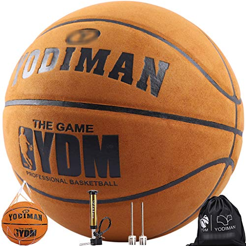 Buy Discount YE ZI Basketballs- Standard Basketball Indoor and Outdoor No. 7 Basketball Size 9.6inch...