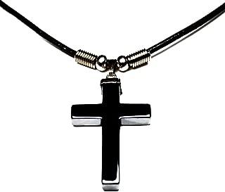 hematite crucifix pendant