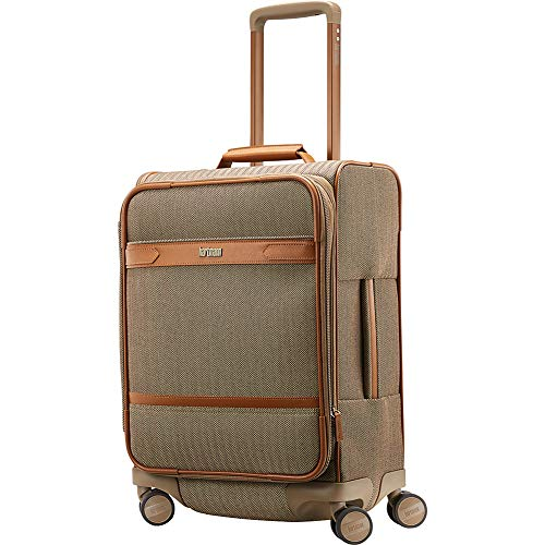 Hartmann Herringbone Deluxe Extended Journey Expandable Spinner, Terracotta, Carry-On 20-Inch
