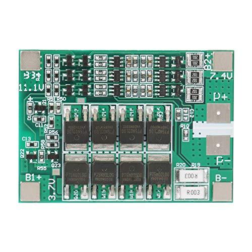 Eurobuy Tablero de Protección de Batería de Litio de Iones de Litio 3S 12V 40A Tablero de Pcb Bms con Carga de Equilibrio