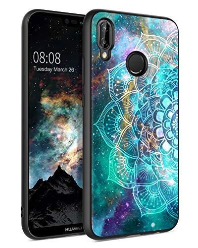 BENTOBEN Huawei P20 Lite Hülle Handyhülle Huawei P20 Lite Case Slim dünn Mandala Nebula Pattern Muster PC Schale mit TPU Bumper Kratzfest Schutzhülle Hülle für Huawei P20 Lite