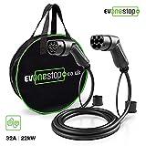 EV OneStop Simple, Affordable, Easy EV Ladekabel für Elektrofahrzeuge | Typ 2 bis Typ 2 | 16/32 Amp | 5/10 Meter | Kostenlose Tragetasche | (3 Phasen / 5 Meter)