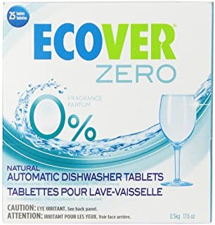 Ecover Automatic Dishwashing Tablets Zero, 25 Count, 17.6 Ounce (Pack of 5)